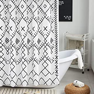 Best black white geometric fabric Reviews