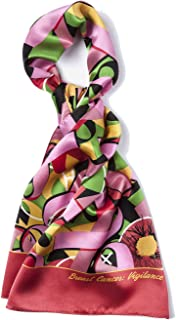 Women's 100% Silk Breast Cancer Pink Ribbon Neck Scarf
