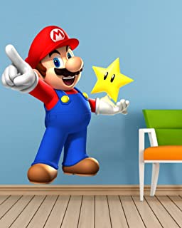 Supe Mario Wall Sticker Wall Sticker for Bedroom Wall Art Wall Poster PVC Vinyl