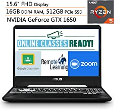 "ASUS TUF 15.6"" FHD Gaming Laptop Computer, Quad-Core AMD Ryzen 5-3550H, 16GB DDR4, 512GB PCIe SSD, NVIDIA GeForce GTX 1650..."
