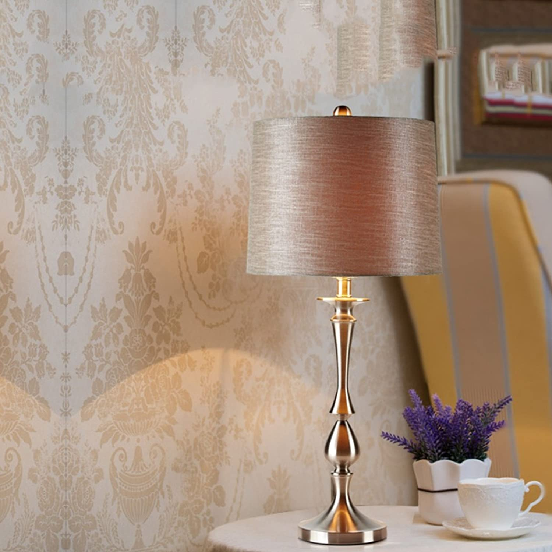 Guo Schlafzimmer Tischlampe Nachttischlampen Modern Simple Nordic Tischlampe Home Wohnzimmer Silber E27 Light Mouth B06WLPB81G   | Modisch