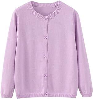 06d5e7d022 Always Pretty Little Girls  Uniform Cardigan Sweater Knit Solid Long  Sleeves Coats Outwear