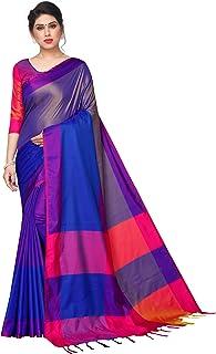 PERFECTBLUE Women's Silk Saree With Blouse Piece