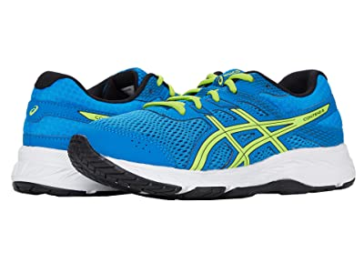 ASICS Kids GEL-Contend 6 (Little Kid/Big Kid) (Directoire Blue/Lime Zest) Boy