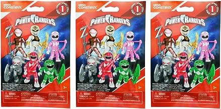 Mega Construx Power Rangers Series 1 Blind Bag Mystery Pack (3 Packs)