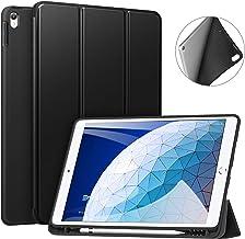 ZtotopCase Funda para iPad Air 2019 3.ª Gen/iPad Pro 10.5, Estuche Inteligente Ultra Delgada Ligera con Porta-lápiz, función Auto-Sueño/Estela, con Suave TPU Trasera, Negro