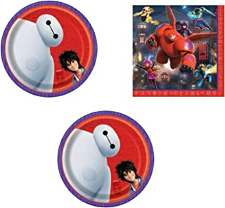 party bundle Big Hero 6 Birthday Party Supply Set for 16 includes Dessert Plates & Lunch Napkins