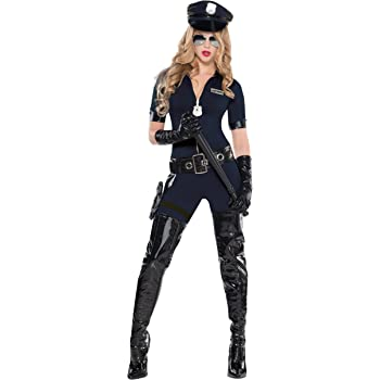 Police Lady Donna Costume poliziotto agente uniforme da Donna Adulti Costume Outfit