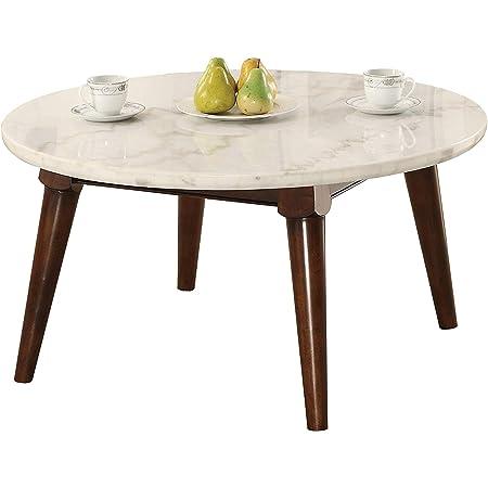 Amazon Com Benjara Benzara Wooden Coffee Table With Marble Top Brown Furniture Decor