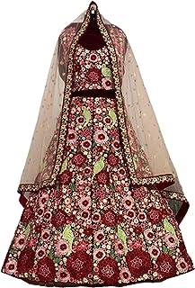 Sabyasachi مستوحاة من Deepika padukone استقبال الزفاف 3D زهرة متعددة الخيوط أحمر مخملي Lehenga Choli Dupatta