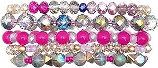 Pink Rose Cactus EDM EDC Dragonstone Party Fair Accessory Rosey Purple Charming Festival Bracelet Stack