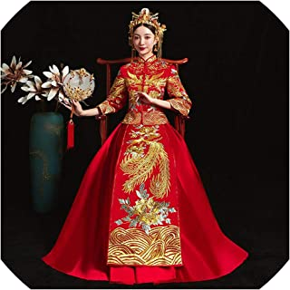 Cheongsam Style Costume Bride Vintage Chinese Traditional Embroidery Tang Suit Qipao