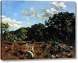 Landscape at Chailly by Frederic Bazille - 17