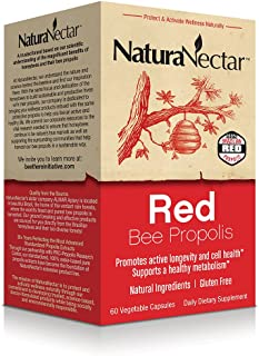NaturaNectar Red Bee Propolis, Vegetable Capsules, 60 Count