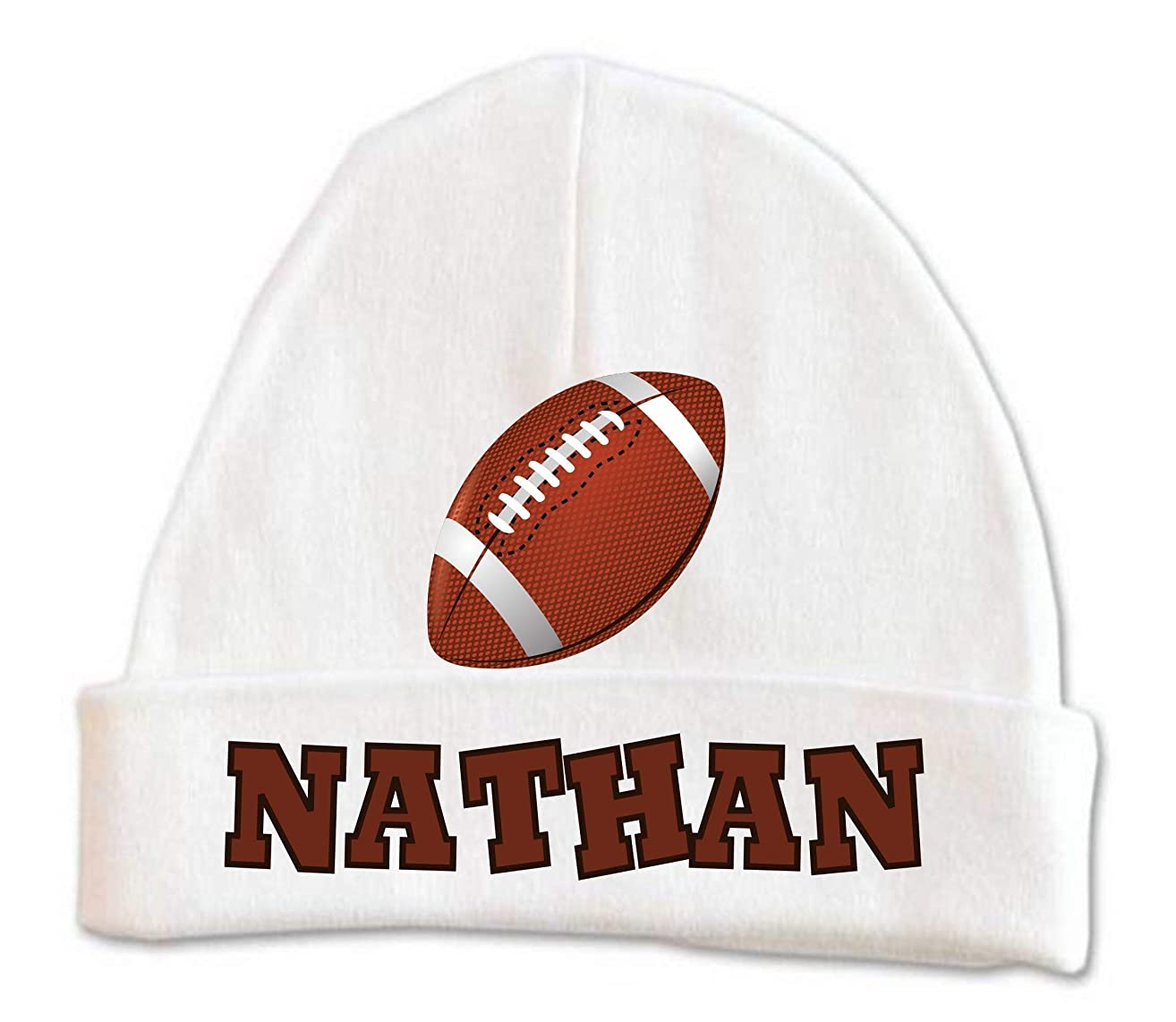 FootBall Baby Beanie Hat Boys Winter Warm Custom Infant Newborn Personalized 0-6 months