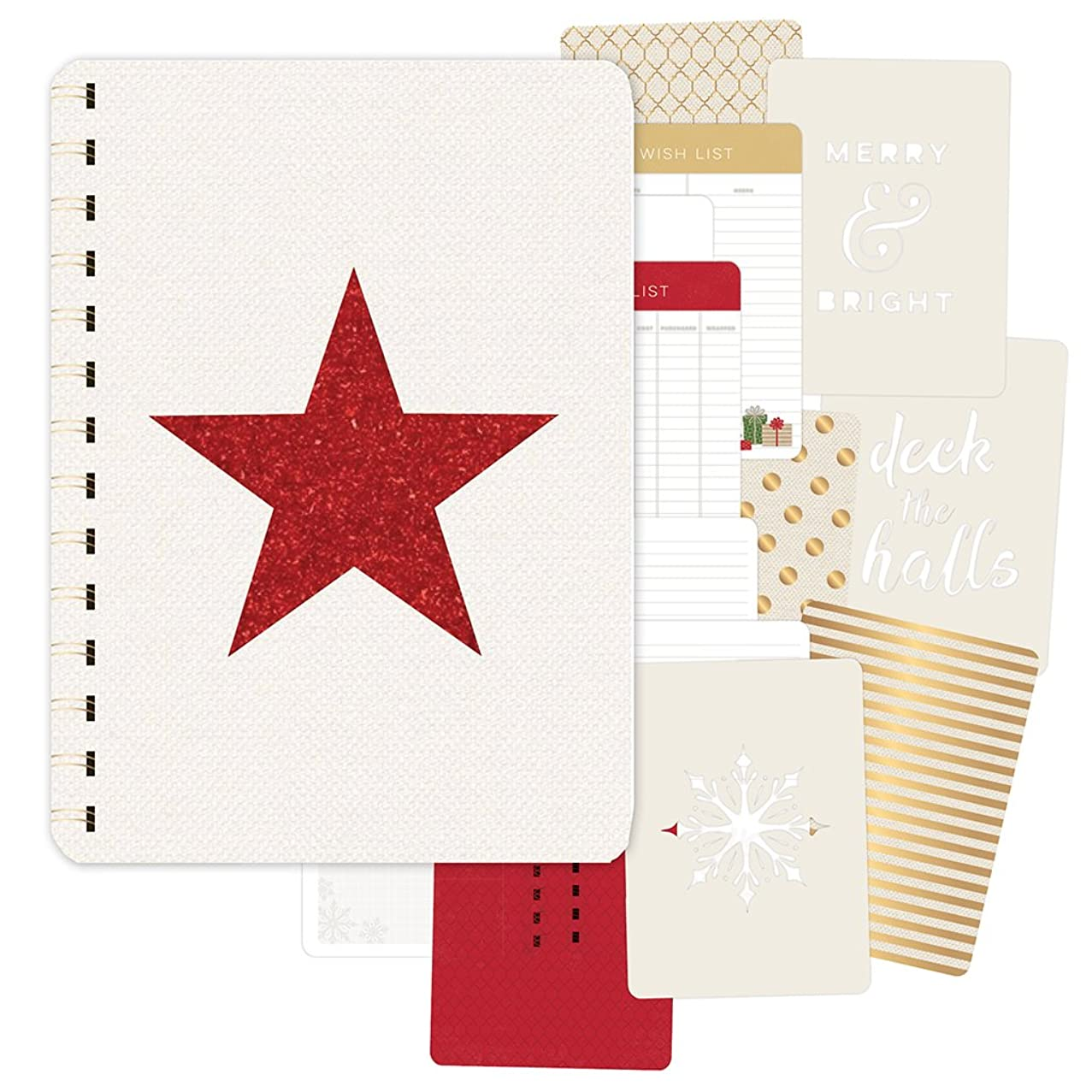 Pink Paislee Yuletide 39 Piece Gold Foil/Red Glitter Journal Document December
