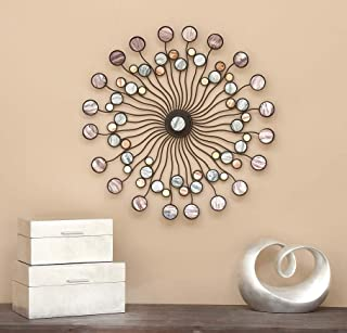 Deco 79 13533 Metal Wall Modern Iron Starburst Wall Decor, 27