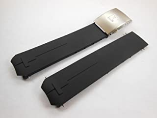 20mm Black Rubber Watch Strap with Clasp Buckle For Tissot T-Touch Z353 BE