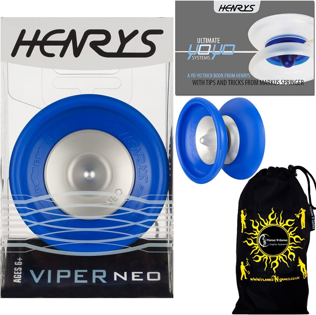 Henrys VIPER Cheap super special price NEO Max 80% OFF Pro YoYo Blue 1A Professional 4A Off String
