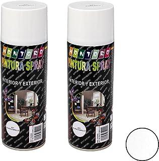 Montoro - Pack de 2 botes de pintura en spray Blanco Brillo A21 400 ml