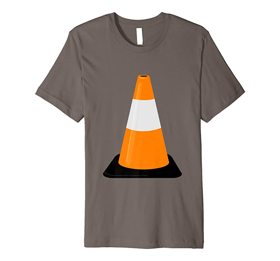 保持するパーセント適応的トラフィックコーンTシャツ