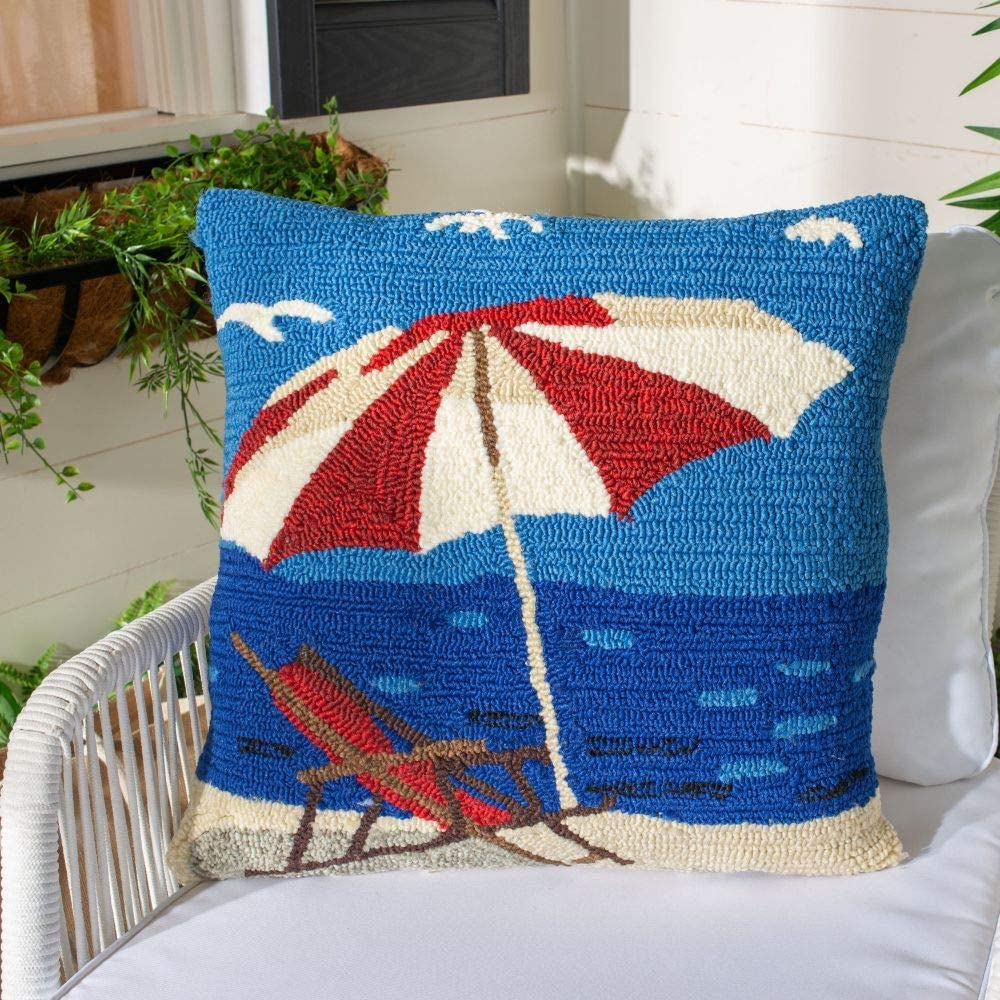 Safavieh pillow Collection Beach Lounge Marine Red 捧呈 Indoor Outd ディスカウント