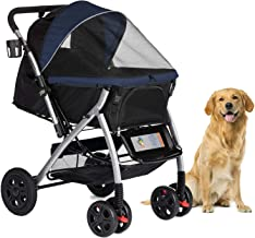 HPZ Pet Rover Premium Heavy Duty Dog/Cat/Pet Stroller Travel Carriage with Convertible Compartment/Zipperless Entry/Revers...