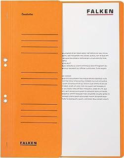 Falken, 80003874001F Paquet de 50 Chemises à œillets permettant une utilisation dans un classeur à levier attache spécifiq...
