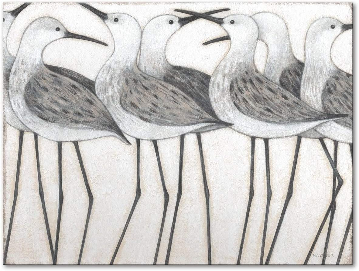 Shorebird Social Gallery Wrapped New latest sales Canvas Norman 20 by Home Wyatt