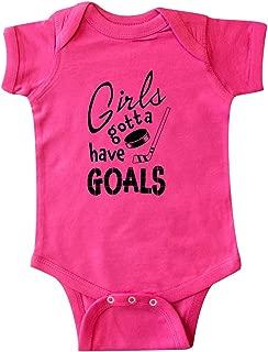 inktastic Girls Gotta Have Goals- Hockey Player Infant Creeper
