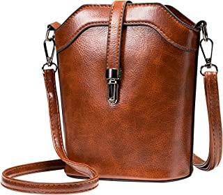 Small Bucket Bag, Cell Phone Purse Wallet Leather Crossbody Bag For Women