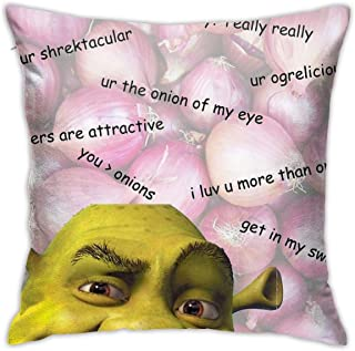 Mabel Shrek Valentines Card Square(45cmx45cm) Pillow Home Bed Room Interior Decoration