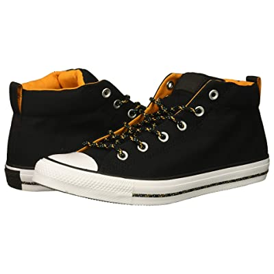 Converse Chuck Taylor(r) All Star(r) Street Mid (Black/Black/White) Men