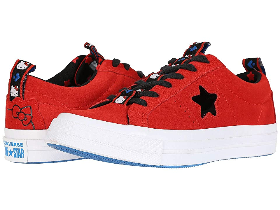 Converse Hello Kitty(r) One Star Ox (Firey Red/Black) Lace up casual Shoes