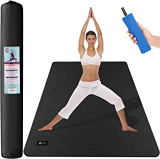 CAMBIVO Large Yoga Mat (6' x 4' x 6mm), Non-Slip Exercise Fitness Mat for Yoga, Pilates, Workout, Baby Play