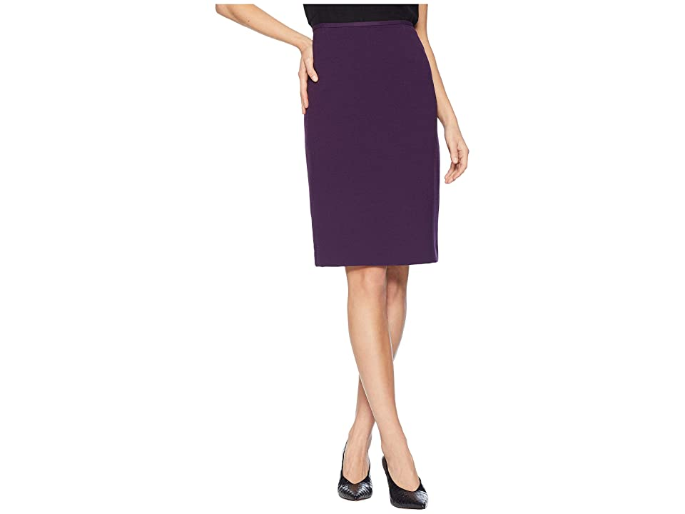 Tahari by ASL Crepe Pencil Skirt (Plum) Women