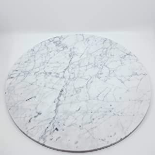 Cake Stand Carrara Marble Cupcake Dessert Base Pastry Serving Tray Centerpiece Round - 16 Inch