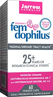 Fem-Dophilus, 5 Billion Organisms Per Cap, Supports Vaginal and Urinary Tract Health, 60 Count (Cool Ship, Pack of 3)