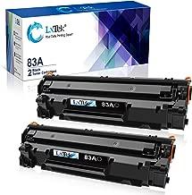 LxTek Compatible Toner Cartridge Replacement for HP 83A CF283A to use with Laserjet Pro MFP M125nw M201dw M225dw M201n M125a M127fn M127fw, 2 Black