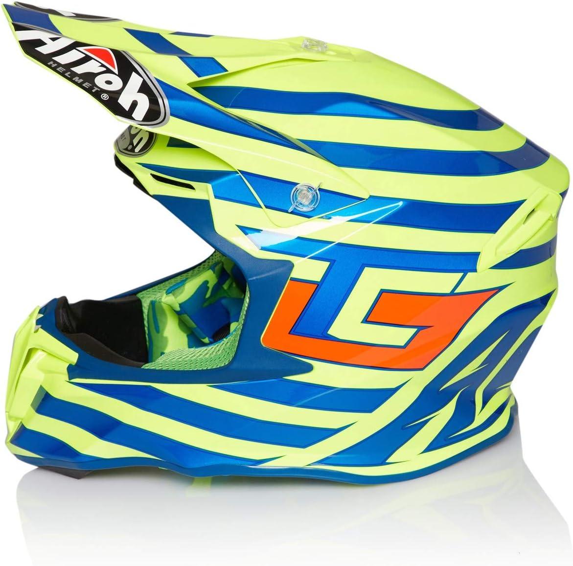 Xs , Jaune Casque Motocross Airoh Tony Cairoli Twist Qatar Jaune