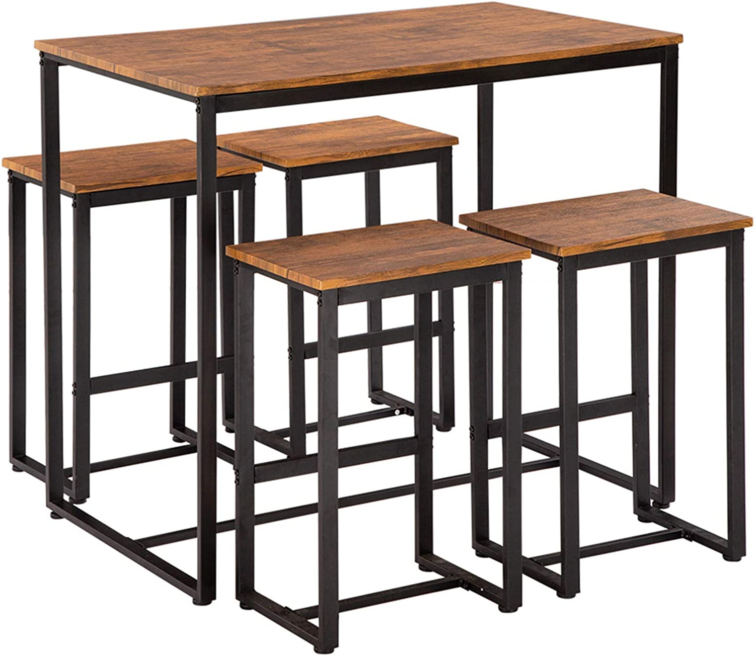 MITPATY Simple Eucalyptus Pattern High Bar excellence Deluxe Table o Chair and Set