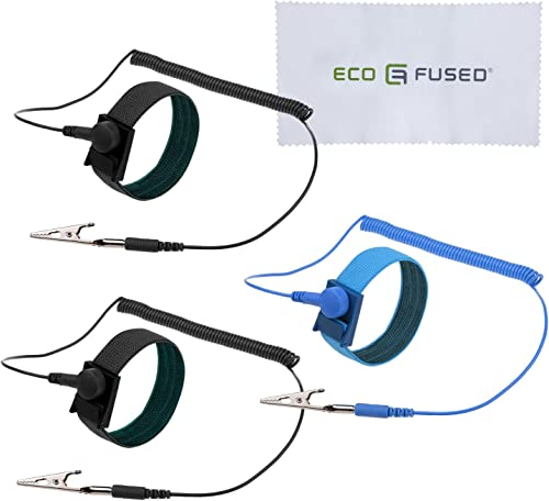 Eco-Fused Anti Static Wrist Straps - Reusable Anti-Static Wrist Straps Equipped with Grounding Wire and Alligator Cli...