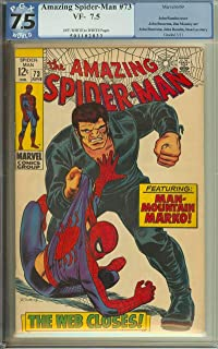 AMAZING SPIDER-MAN #73 PGX 7.5 OW/WH PAGES