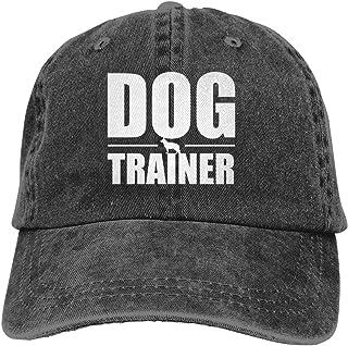 95cbd6ba1fd276 Kkidj Ooii Dog Trainer Cowboy Cap Unisex Adjustable Trucker Baseball Hats  Black