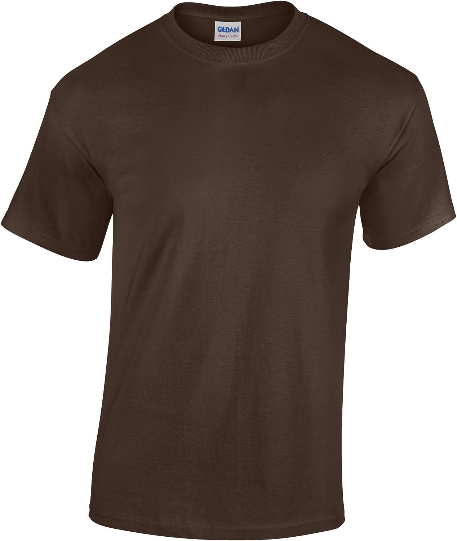 Gildan Childrens Unisex Heavy Cotton T-Shirt (Pack of 2) (XL) (Dark Chocolate)