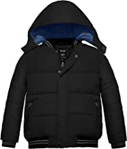 Wantdo Boy's Padded Winter Coat with Removable Hood Windproof Puffer Jacket
