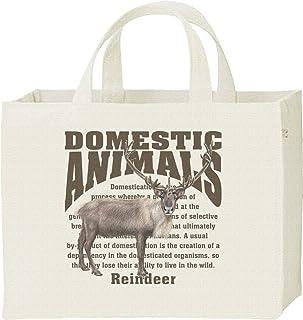エムワイディエス(MYDS) トナカイ/飼育 動物・家畜/キャンバス スクエア トートバッグ