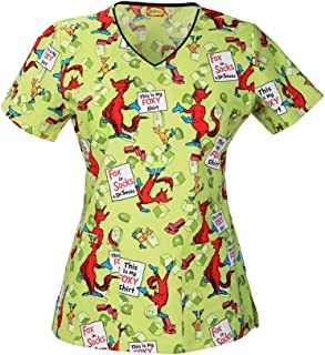 grinch scrub top