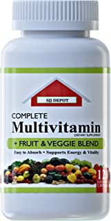 120 Multivitamin Fruit and Vegetable Liquid Capsules, Loaded Multivitamins, Supplements by SJJ Depot, Multiple Vitamin has...