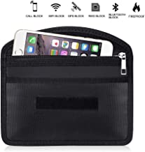 Fireproof Faraday Bag with Zipper Anti-Tracking GPS RFID Car Key Signal Blocker Wallet Shielding Pouch Protective Case for...